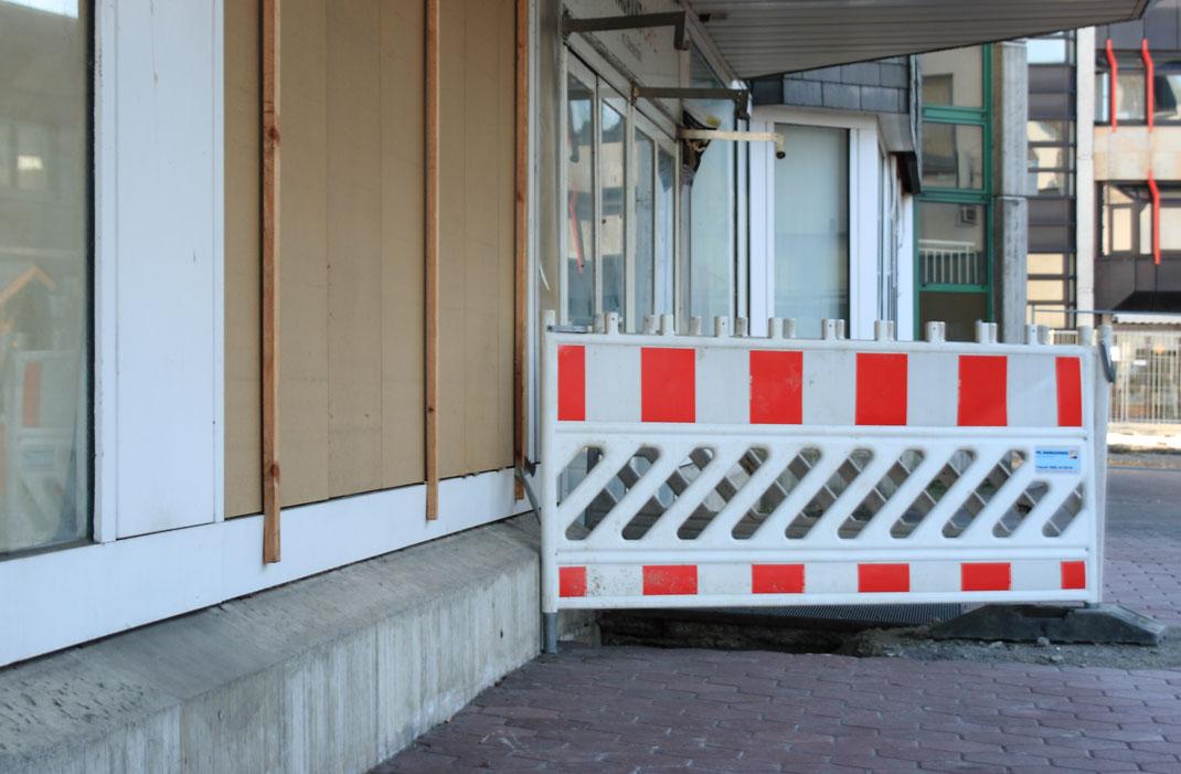 Verfall des ehemaligen Hertie-Kaufhauses in Meschede